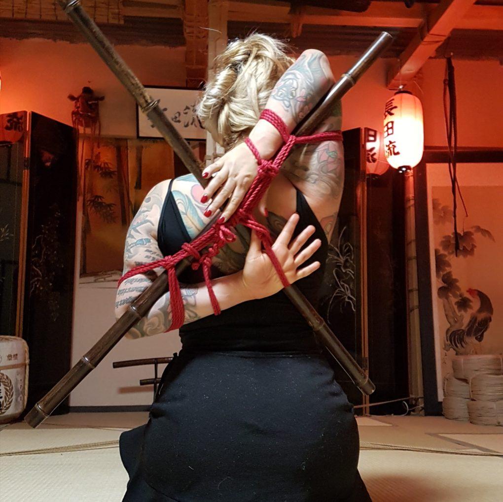 Teppô-Shibari mit Bambus, Studio SIX, Tokio 2017